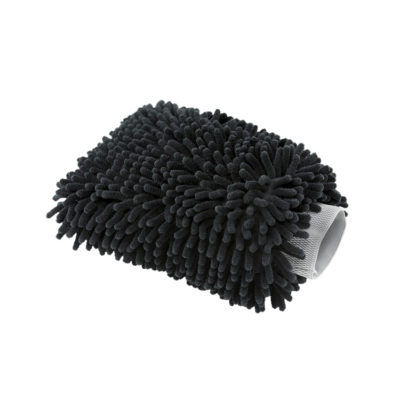 Chenille black washmitt